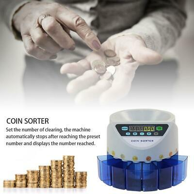 Auto Electronic Money Coin Sorting Machine Currency Counter Cash Counting Sorter
