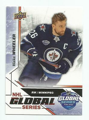 2019 UD National Hockey Card Day Blake Wheeler NHL Global Series #GS-10 JETS