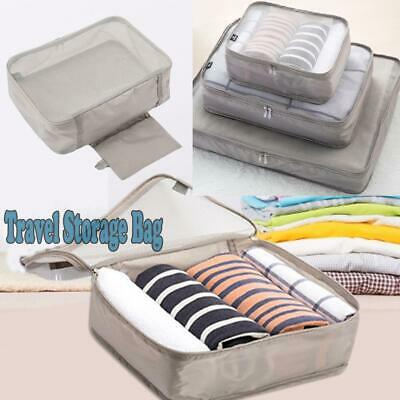 Waterproof Packing Cube Travel Pouches Luggage Organiser Clothes Storage Bag