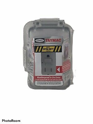 Taymac 1-Gang MG420CS Weatherproof Extra Duty In-Use Cover GFCI Combo