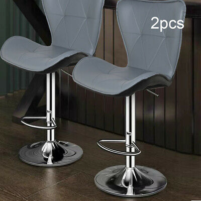 New 2pc Kitchen Breakfast Bar Stools Pu  Counter Chairs Footrest Barstools