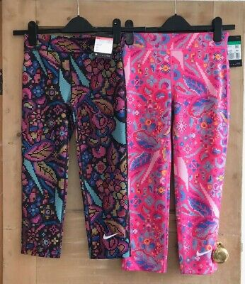 NIKE GIRLS training TIGHTS SIZE M 10 12 L 12-13 YRS & SIZE XL 13-15 YRS multi