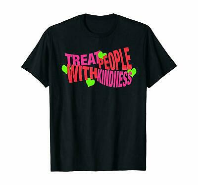 Always Remember To Treat People With Kindness Funny Black T-Shirt S-6XL