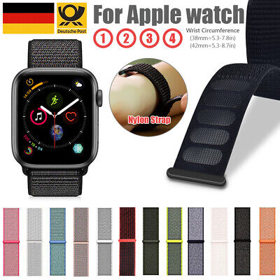 Nylongewebe Sport Loop Armband Für Apple Watch Series 1 2 3 4 5 38/40mm 42/44mm