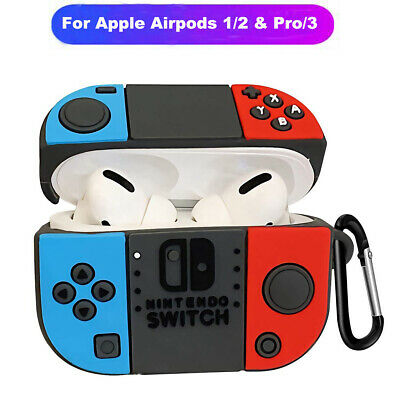 For Apple AirPods Pro 1/2 Headset NINTENDO SWITCH Silicone Protective Case Cover