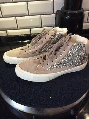 Girls ZARA Trainers Sparkly Trainers Boots Size Euro 37 Excellent Cond.