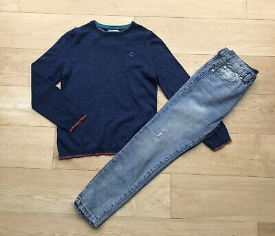 TED BAKER RIVER ISLAND *8y BOYS JEANS & JUMPER OUTFIT AGE 8 YEARS