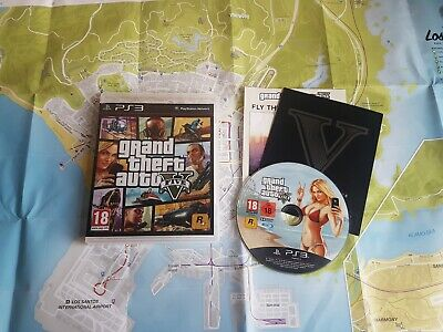 Grand Theft Auto V GTA 5 Playstation 3 PS3 Action Video Game Manual PAL UK Map