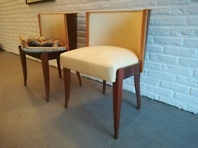 De Coene set of two late art deco/modernist chairs expo Paris 1937