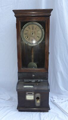 Vintage Industrial Clocking In Clock Machine