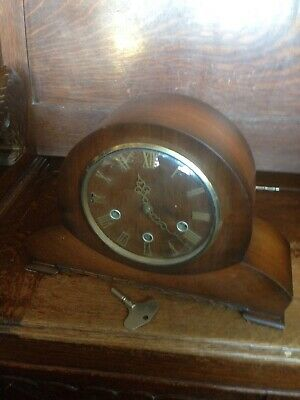 Smiths Walnut Westminster Chiming Mantle Clock Superb, C1940s