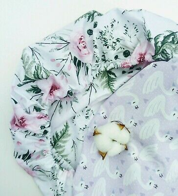 100% Cotton  Moses Basket Fitted Sheets. 80 x 40 cm