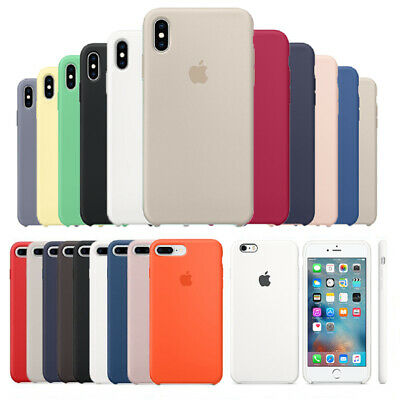 Original Silicone Luxury Case for Apple iPhone XS Max XR X 7 8 6S Plus OEM Cover