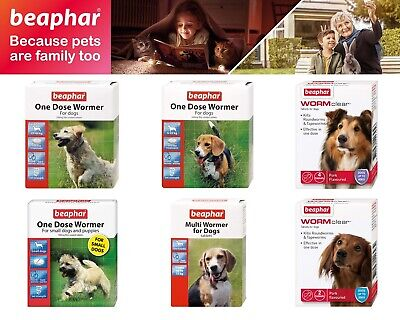 Beaphar Wormclear Multiwormer One Dose Wormer For Dogs Roundworms & Tapeworms