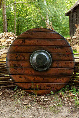 Medieval Round VIKING Liner SHIELD~sca/larp/wooden/gothic/serpent/boss/armor