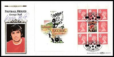 Manchester United Legend GEORGE BEST Signed 1996 GB Football Heroes Benham FDC