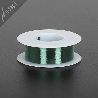 Magnet Wire, Enameled Copper, Green, 44 AWG (gauge), 155C, ~5 lb