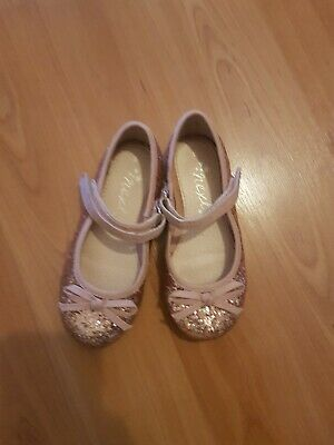 Next Size 9 Childrens Girls Sparkly Shoes with bow