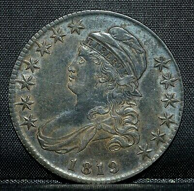 1819 Capped Bust Half Dollar ✪ Au ✪ 50C Almost Uncirculated L@@K Now ◢Trusted◣
