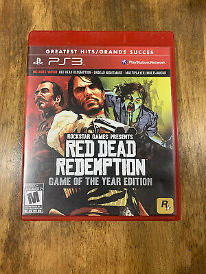 Red Dead Redemption Game of the Year Edition Ps3 PlayStation 3 Complete W/map
