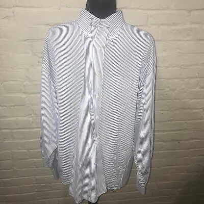 JOS. A. BANK Size Xl Men's Long Sleeve Shirt Classic Collection Striped