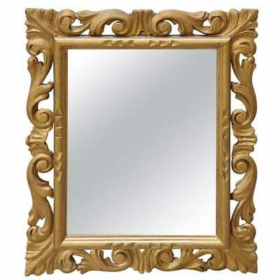 20th Century Italian Baroque Style Carved and Gilded Wood Wall Mirror