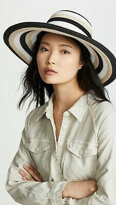 New Kate Spade New York Straw Stripe Sunhat R$78