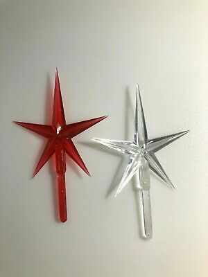 """Large Red Star Ceramic Christmas Tree Topper Replacement 4"""""""