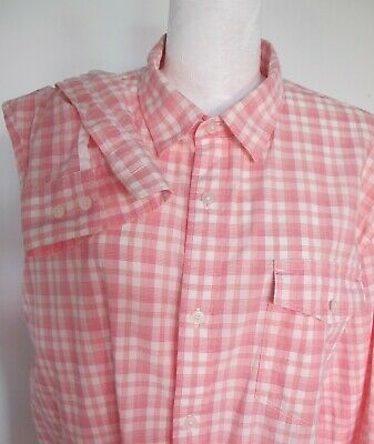 SHIRT Long sleeve White Pink cheque COTTON Country Road Sz XL