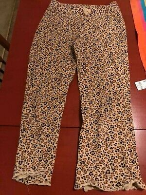 GIRLS SIZE 6 JUMPING BEANS BLACK/BROWN LEOPARD PRINT LONG LEGGINS preowned