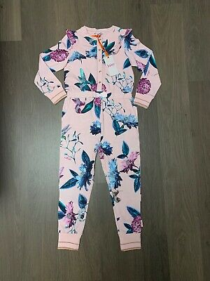New Ted Baker Girls Hummingbird AllInOne Pyjama Onesle Size 6-7 Years