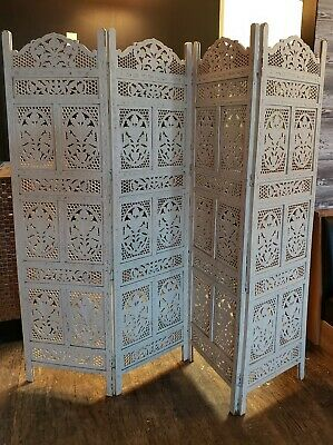 Antique Chinese Hand Carved Wood Panels Screen/Room Divider
