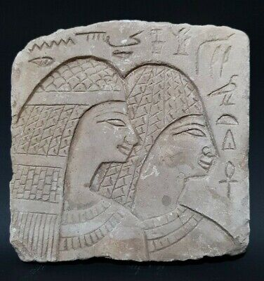 Rare ANCIENT EGYPTIAN ANTIQUES STELA RELIF Tomb EGYPT Carved Stone 1850 -1460 BC