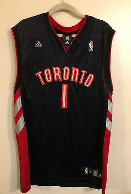 Mens Adidas NBA Toronto Raptors Jarrett Jack Black Red Jersey - Size Large