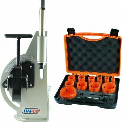 TUBE NOTCHER, includes HOLESAW BLADE SET, PIPE NOTCHER, PANEL BEATING, WELDING,