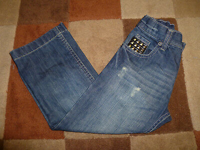 Kid's (5 yrs) Distressed Look Jeans with Studs by Matalan (Very Good Condition)
