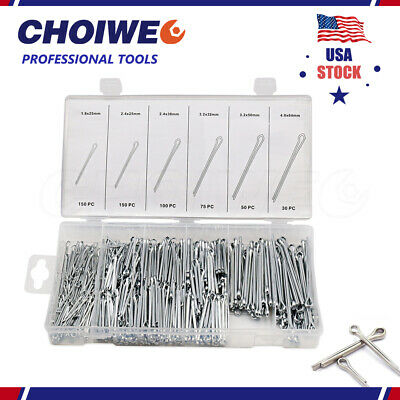 555 pcs Cotter Pin Assortment with Case Container Fastener Pins Fastener Clip