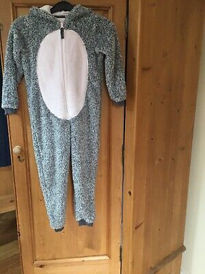 Girls M&S Bunny Sleepsuit Age 5-6