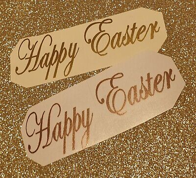 Happy Easter Vinyl Decal Stickers Wine Gin Mug Glass Bottle 6 / 10 Set