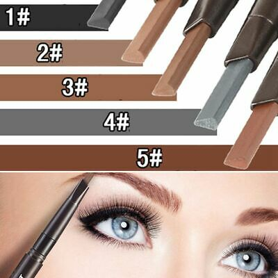 Lasting Waterproof Automatic Double Head with Brush Eyebrow Pencil Brow Tint