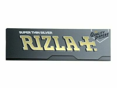 NEW Rizla Silver Rolling Papers RICE PAPER Standard size (2/5/10/20/50/100) pcs