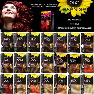GARNIER OLIA PERMANENT HAIR COLOUR 60% Flower Oil NO AMMONIA  60ml