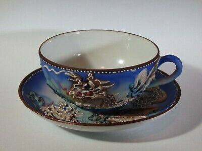 Antique/Vintage China Chinese Hand-Decorated Porcelain Tea Cup With Dragons