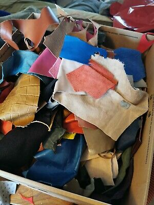 Leather scraps 500g bag for Jewellery making and other crafts