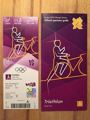 London 2012 Olympic Ticket Triathlon Brownlee Gold 7Aug & Spectator Guide *Mint*