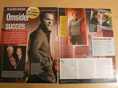 KIEFER SUTHERLAND 24 HOURS The Sentinel Danish Clippings Cuttings Articles A398