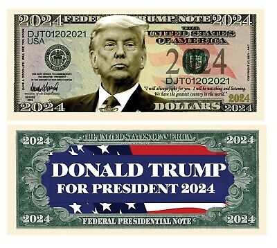 5000 Donald Trump 2020 For President Re-Election Campaign Dollar Bill Note Lot