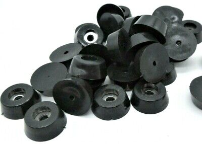 """3/4"""" x 1/4"""" (D X H)Rubber Feet for Vintage Electronics, Clocks, Antiques, Chairs"""