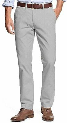 Tommy Hilfiger Men's Tailored Fit Chino Pants Griffin Grey 36W x 30L