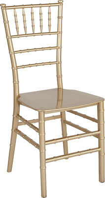 Gold Resin Chiavari Chair - Commercial Quality Stackable Wedding Venue Chair